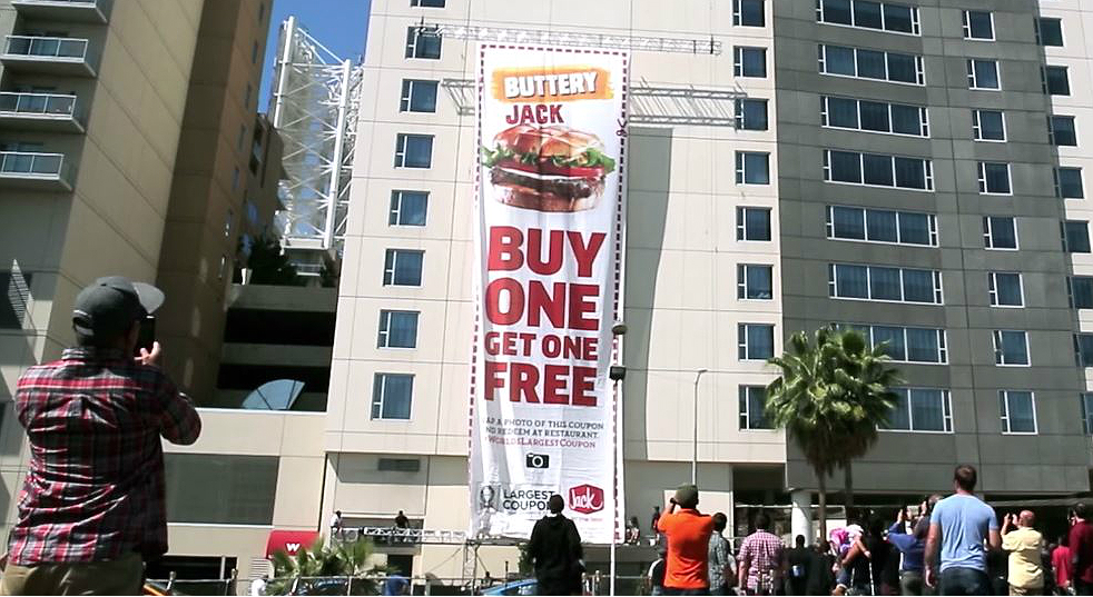 Jack in the Box Largest Coupon burger Social Media