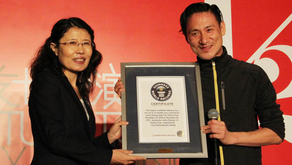 Jacky Cheung performs for largest combined audience