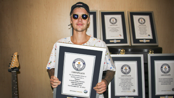 Justin Bieber scores eight titles in Guinness World Records 2017 Edition