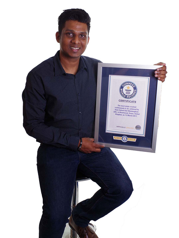 Kal with his official GWR certificate