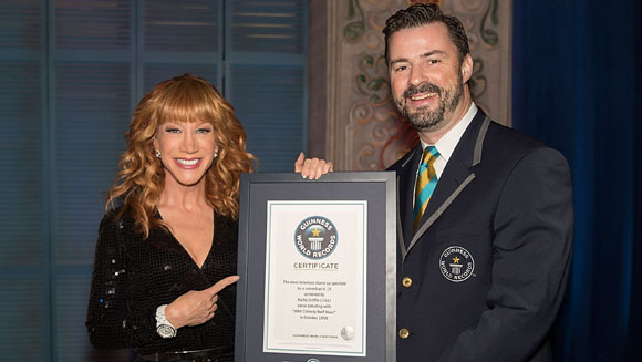 "Kathy Griffin to be honored with record in, well, ""Record Breaker"" special"