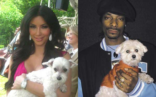 Kim Kardashian and Snoop Dogg with Lucky