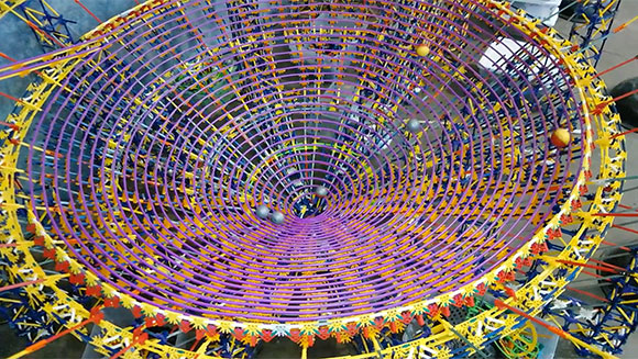Video: Watch mesmerising footage of the world's largest K'NEX ball contraption