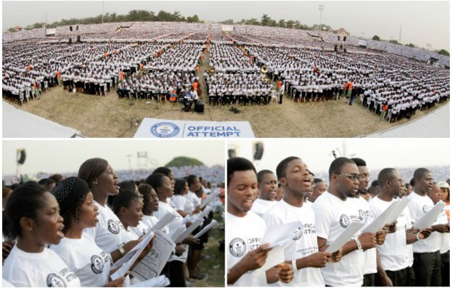 Video: Watch Nigerian choir sing their way to largest group of carol singers record