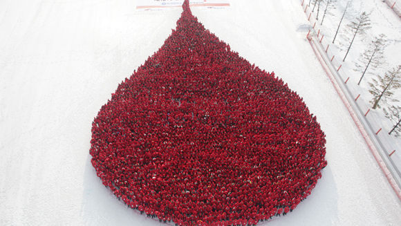 Largest human blood drop takes place in South Korea