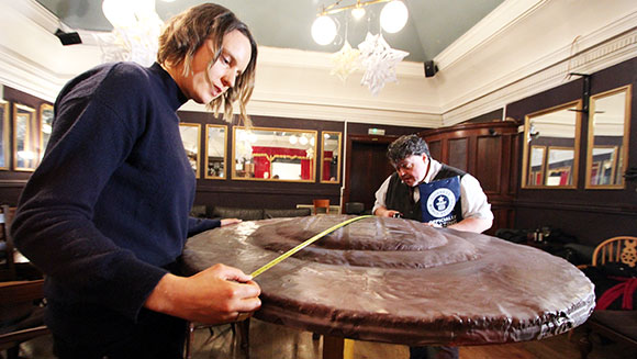 Video: The Great British Bake Off winner Frances Quinn makes world's largest Jaffa Cake