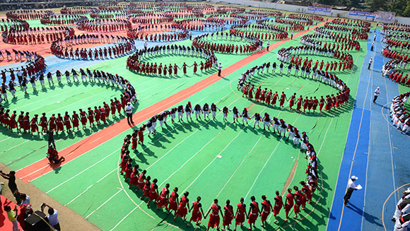 Video: Watch spellbinding largest Karma Naach dance record attempt in India