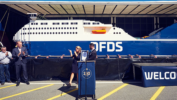 Enormous ship made from LEGO breaks world record