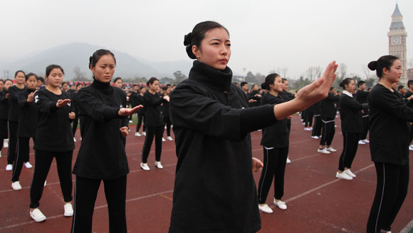 Video: Thousands of martial arts fans perform record-breaking Wing Chun display in China