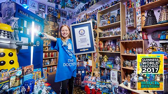 British girl has world's largest collection of Doctor Who memorabilia - Guinness World Records 2017 Blockbusters!