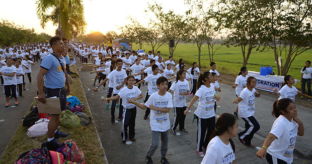 Largest dance fitness class Philippines children