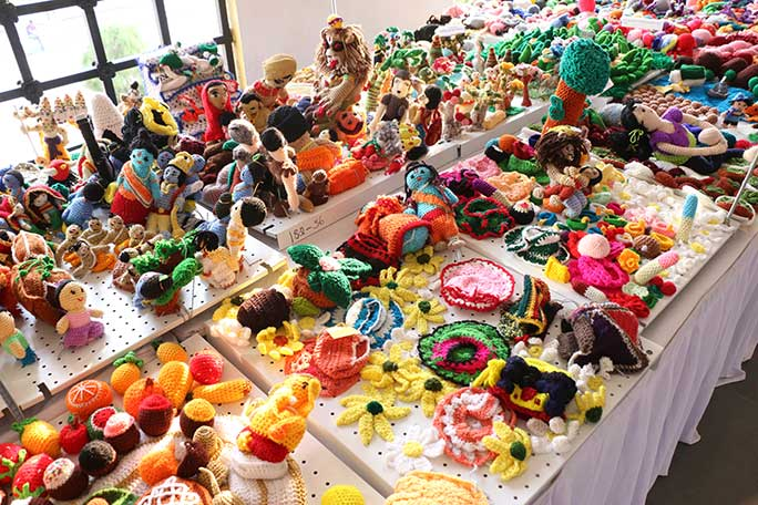 Largest display of crochet sculptures