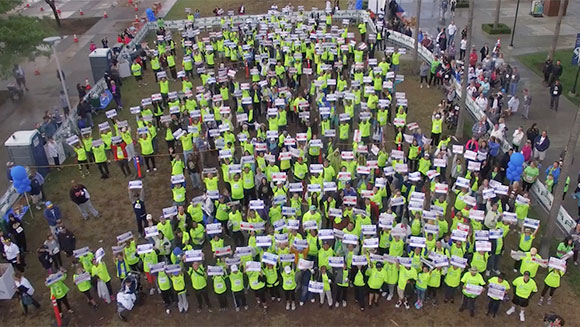 Donate Life Run/Walk sets record for largest gathering of organ transplant recipients in US
