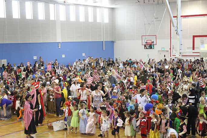 Largest gathering of people dressed as storybook characters