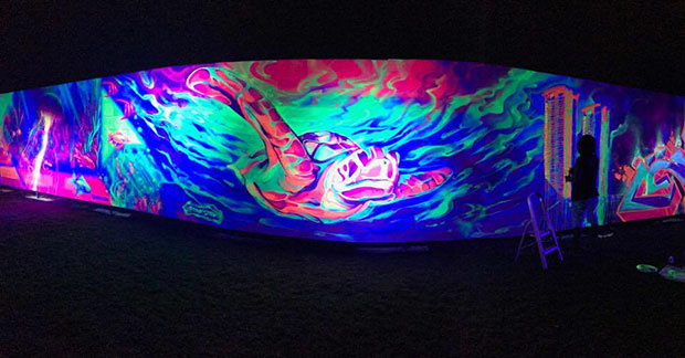 Largest glow in the dark painting turtle