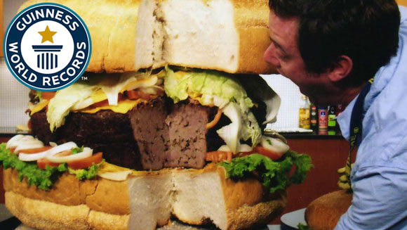 Video Classics: Largest hamburger commercially available - tuck into this vintage clip