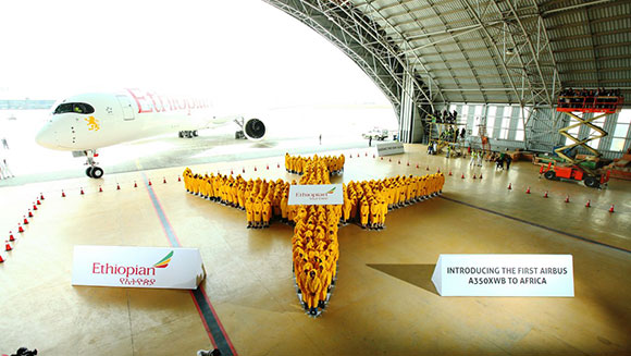 Ethiopian Airlines celebrates Airbus 350 XWB delivery by setting world record