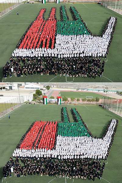 Largest human transforming image by GEMS Education