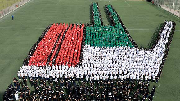 Thousands of Dubai school kids set patriotic record for UAE National Day