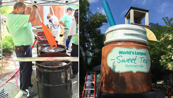 Small US town reclaims record for largest iced tea