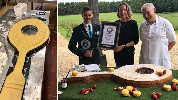 Bake Off winner Frances Quinn creates edible tennis racket to celebrate Wimbledon finals