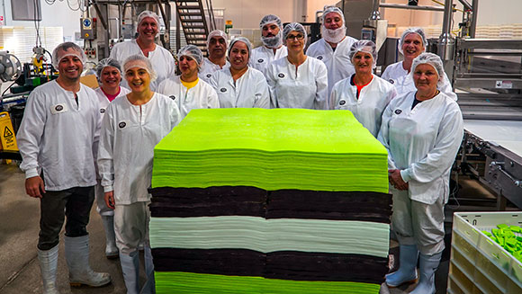 New Zealand sweets brand makes world's largest liquorice allsort