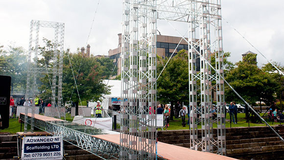 Bridge made out of 10,000 Meccano pieces earns record for Queen's University students