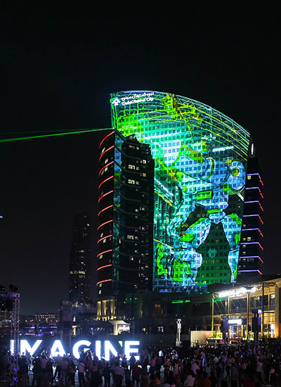 Largest permanent projection mapping portrait