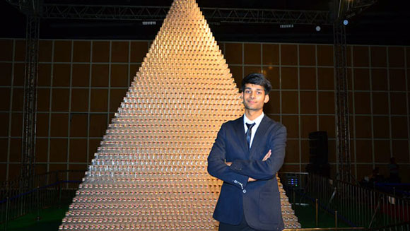 Indian student achieves life-long dream of breaking world record