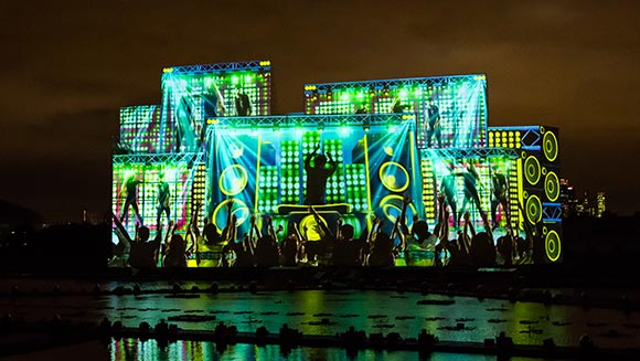 Moscow 'Circle of Light' festival breaks two world records for breath-taking projected image display