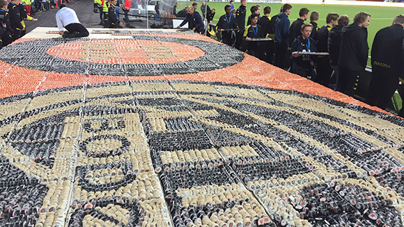 World's largest sushi mosaic sets record for Norway