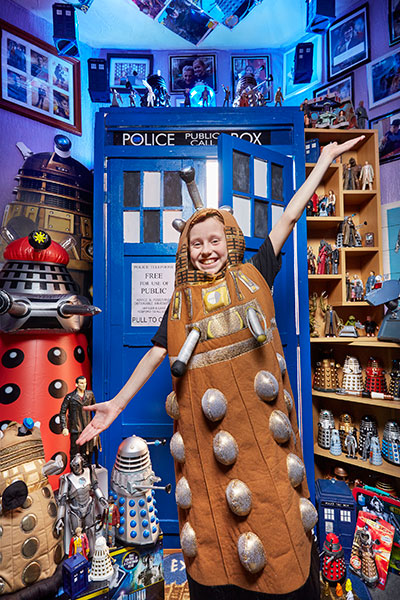 Lily Connors in a Darlek costume