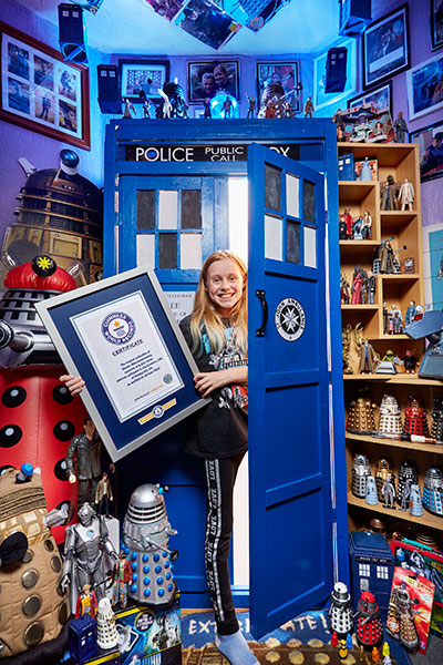 Lily Connors in her Tardis wardrobe