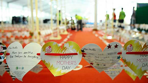 Singapore social welfare organisation celebrates Mother's Day with record attempt