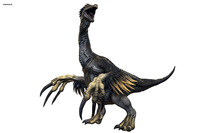 Therizinosaurus' name translates roughly as scythe lizard - for obvious reasons...
