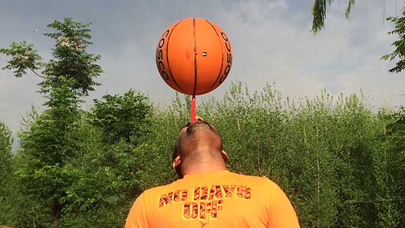 Video: Indian man breaks record spinning a basketball on a toothbrush