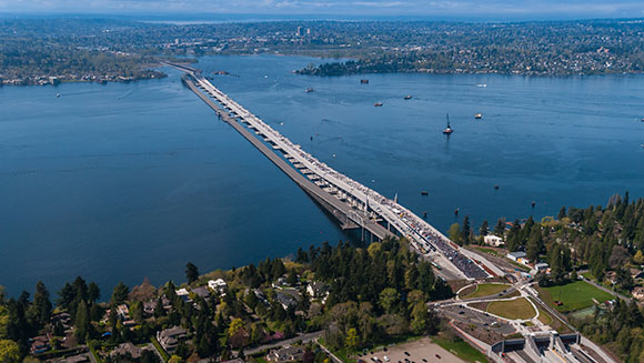 New bridge in Washington State betters longest floating bridge record