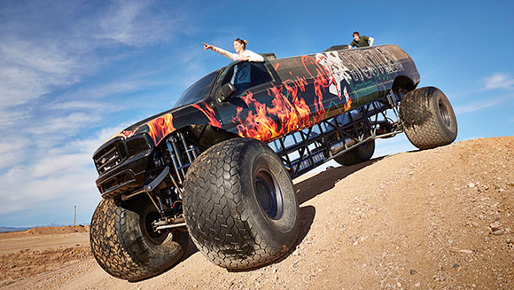 video 98 metre long monster truck storms into guinness world records 2017 book