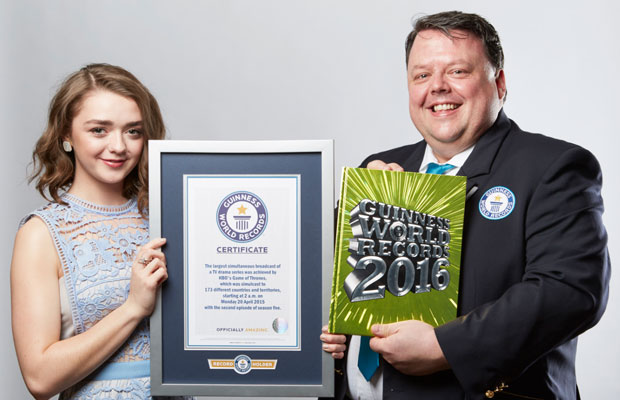 Maisie Williams and Craig Glenday GWR 2016
