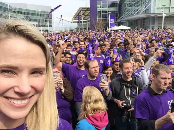 Marissa Mayer Yahoo yodel world record attempt