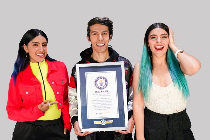 Most YouTube Diamond Play buttons earned by family members___