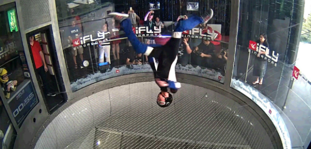 Video: Watch Singaporean daredevil spin upside down in a wind tunnel for new Guinness World Records title