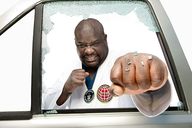 Classics: Most car door windows smashed using the hands in two minutes