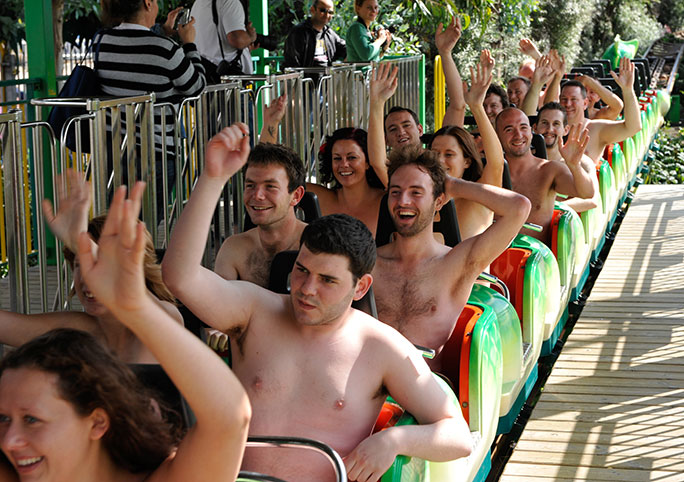 Image result for naked theme park riders