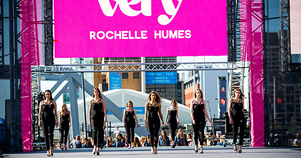 Most people modelling on a catwalk - rochelle humes