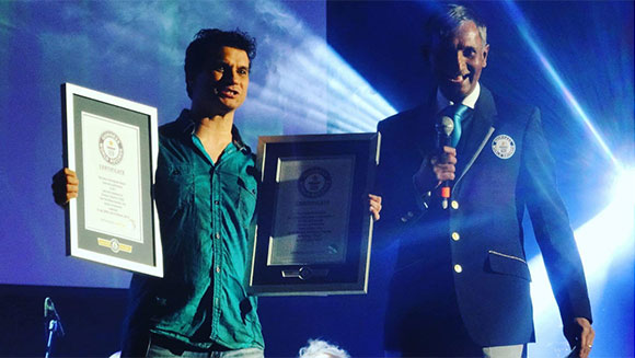 Video Games Live creator Tommy Tallarico receives certificates at record-breaking concert