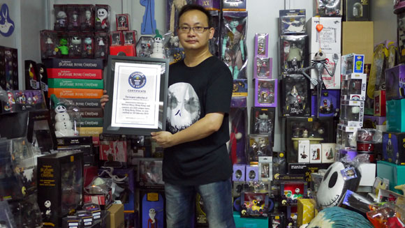 Hong Kong man sets record for largest The Nightmare Before Christmas collection