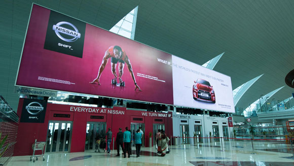 Super-sized Usain Bolt billboard at Dubai Airport sets world record