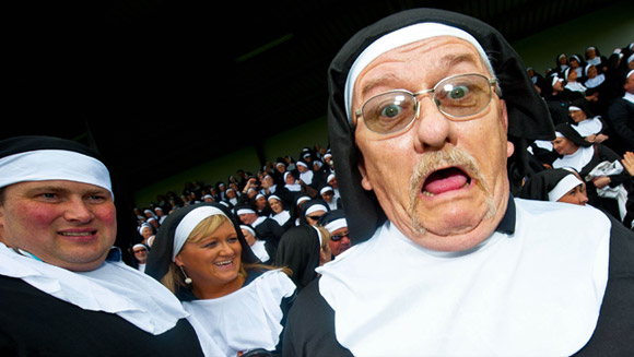 Images of the Week: From the largest gathering of people dressed as nuns to the largest spider