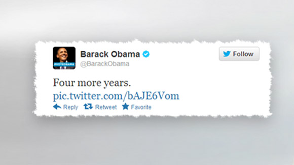 How Barack Obama beat Justin Bieber as well as Mitt Romney with record-breaking U.S. election victory tweet
